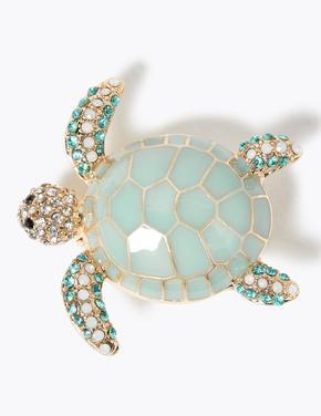 Kadın Yeşil Kaplumbağa Broş