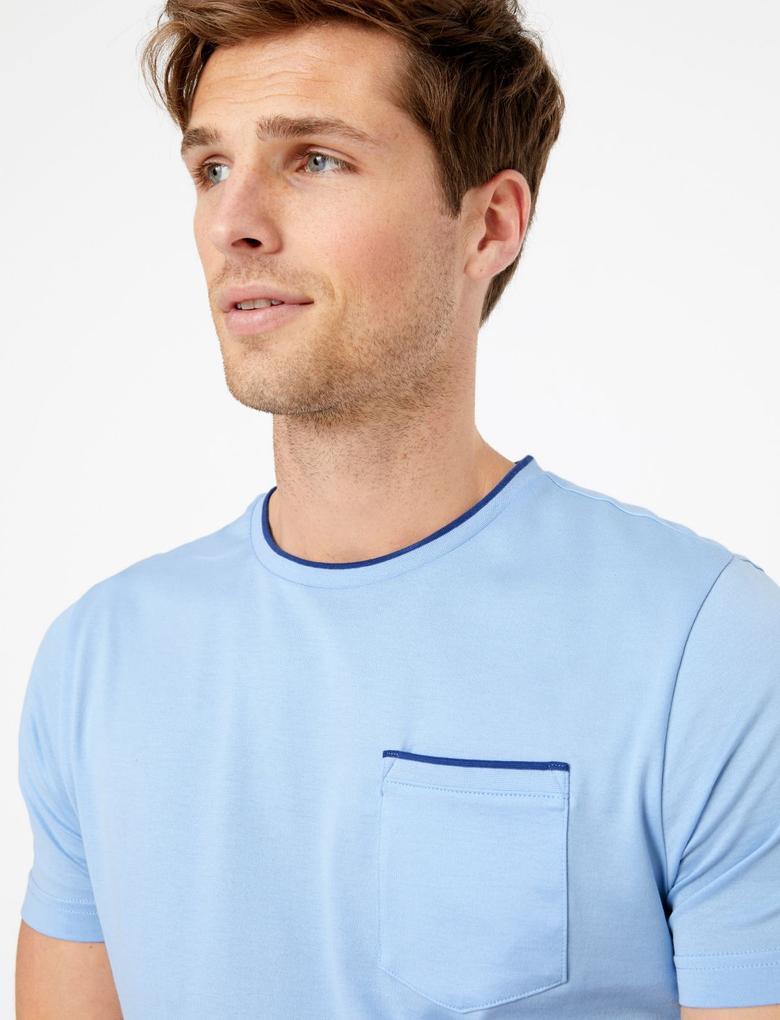 Mavi Luxury Supima® Yuvarlak Yakalı T-Shirt