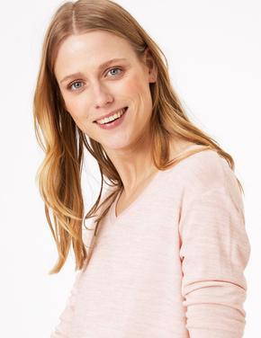 Kadın Pembe Luxe Touch Uzun Kollu T-shirt