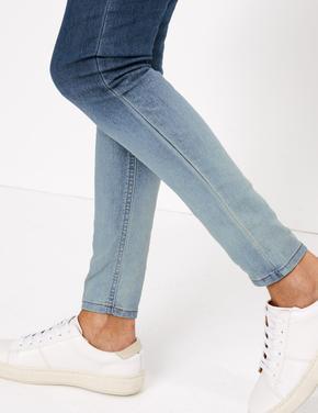 Kadın Mavi Yüksek Belli Jegging Pantolon