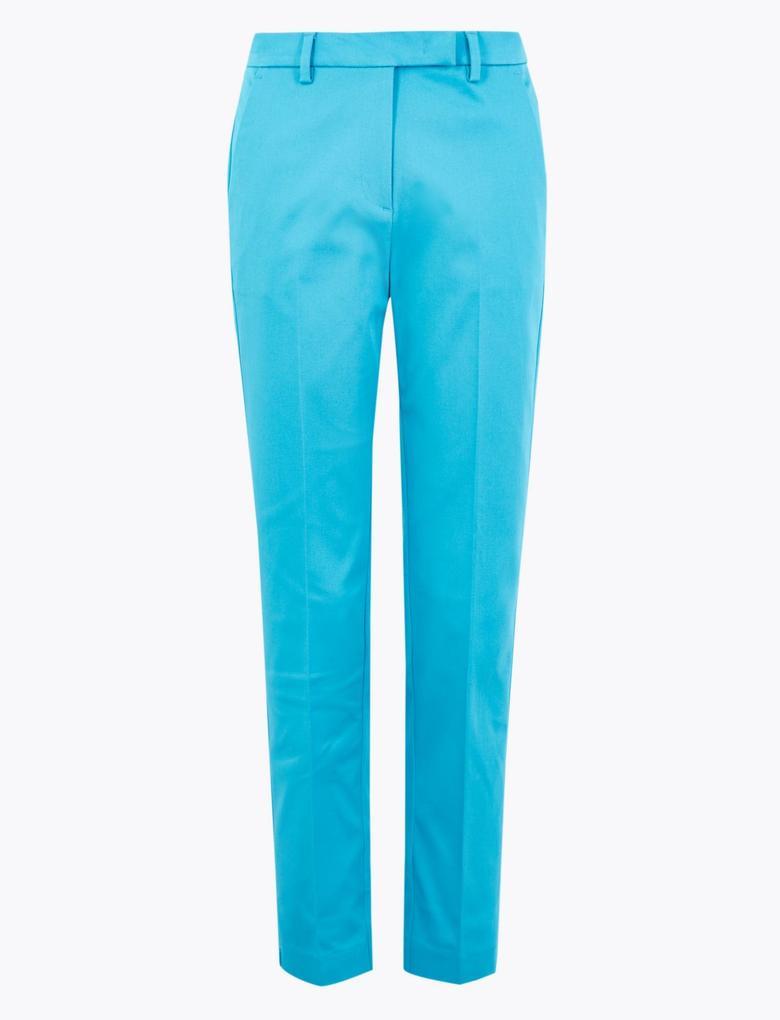 Kadın Yeşil Mia Slim Crop Pantolon