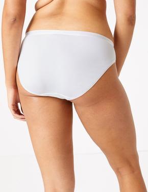 Kadın Beyaz Dantelli High Leg Külot