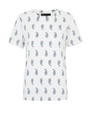 Kadın Beyaz Kısa Kollu Straight Fit T-Shirt