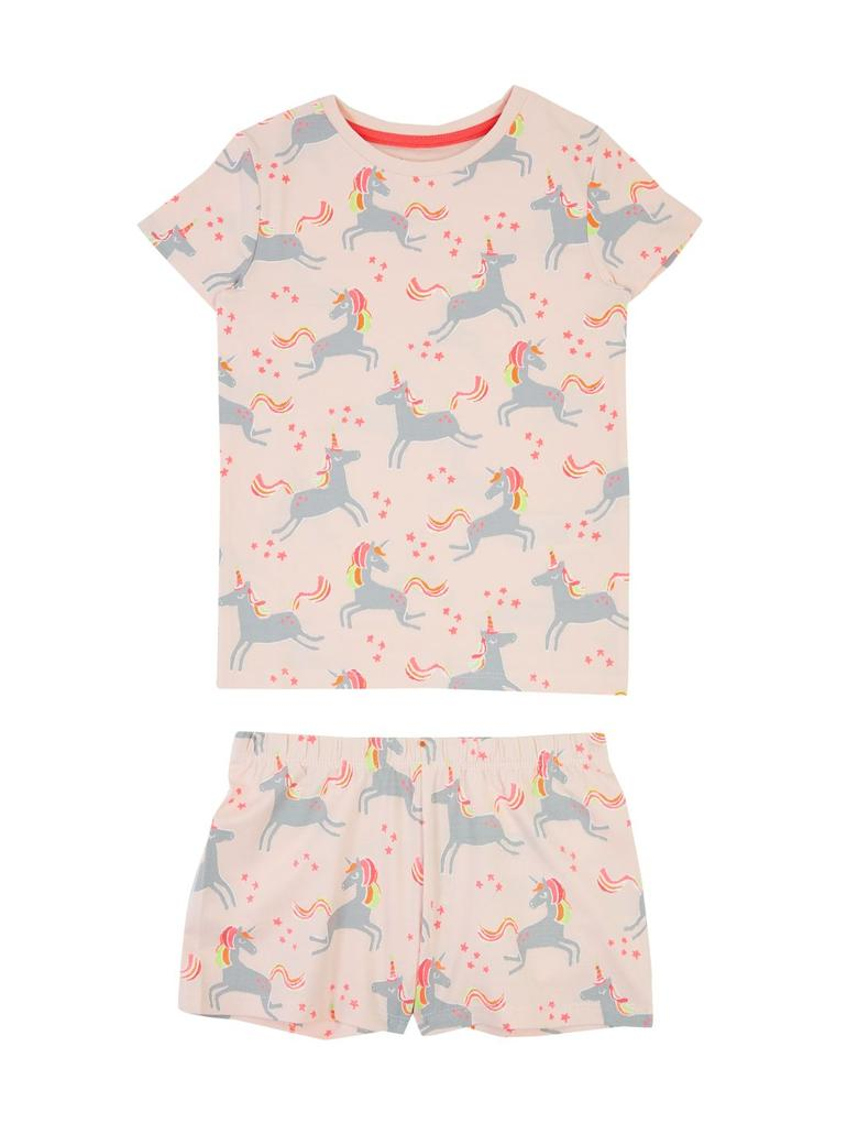 Çocuk Pembe Unicorn Desenli Pijama Takımı