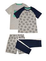 Çocuk Gri 2'li Futbol Temalı Pijama Seti