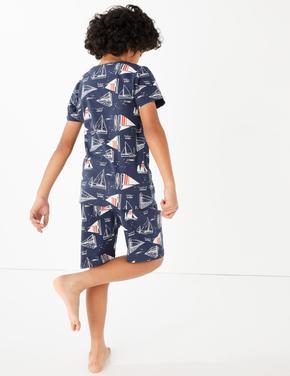 Çocuk Koyu lacivert Kısa Kollu Pijama Takımı