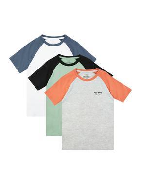 Erkek Çocuk Multi Renk 3'lü Kısa Kollu T-Shirt Takımı