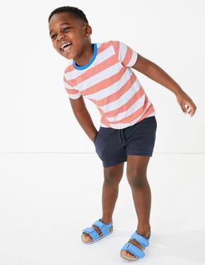 Erkek Çocuk Lacivert Bağcıklı Jarse Şort