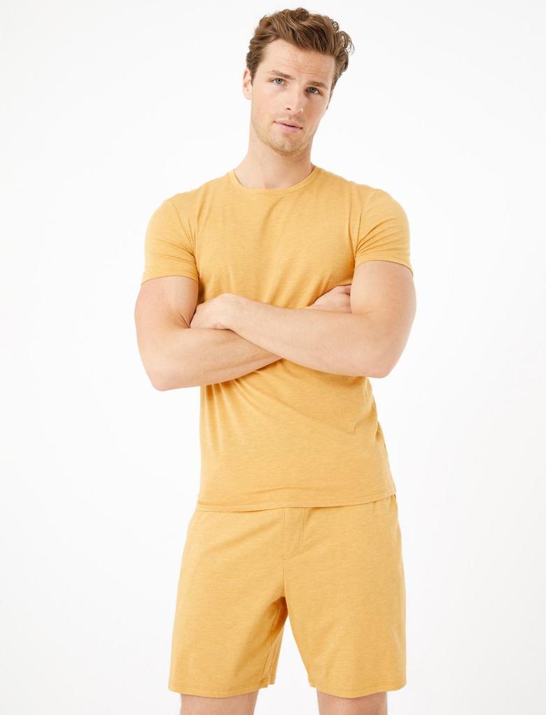 Erkek Sarı Luxury Supima® Supersoft Pamuk Karışımlı Atlet