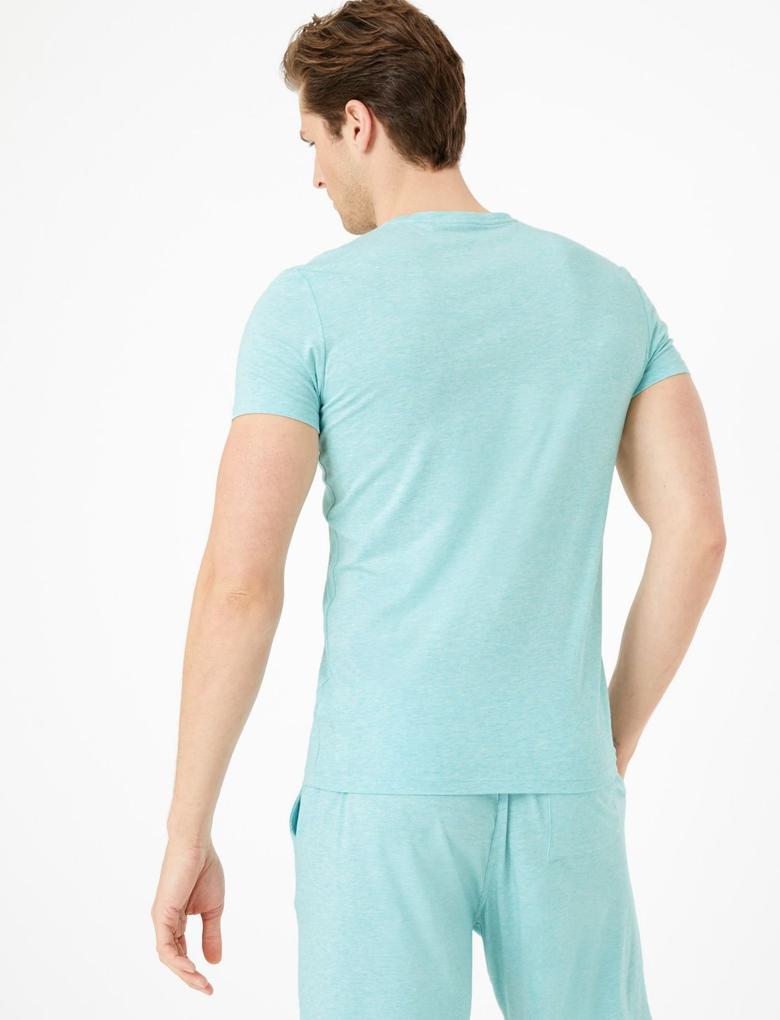 Erkek Yeşil Luxury Supima® Supersoft Pamuk Karışımlı Atlet