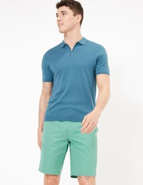 Erkek Yeşil Ultra Hafif Chino Şort