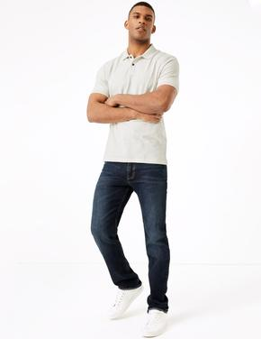 Krem Saf Pamuklu Polo Yaka T-Shirt