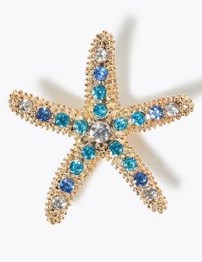 Kadın Yeşil Deniz Yıldızı Broş