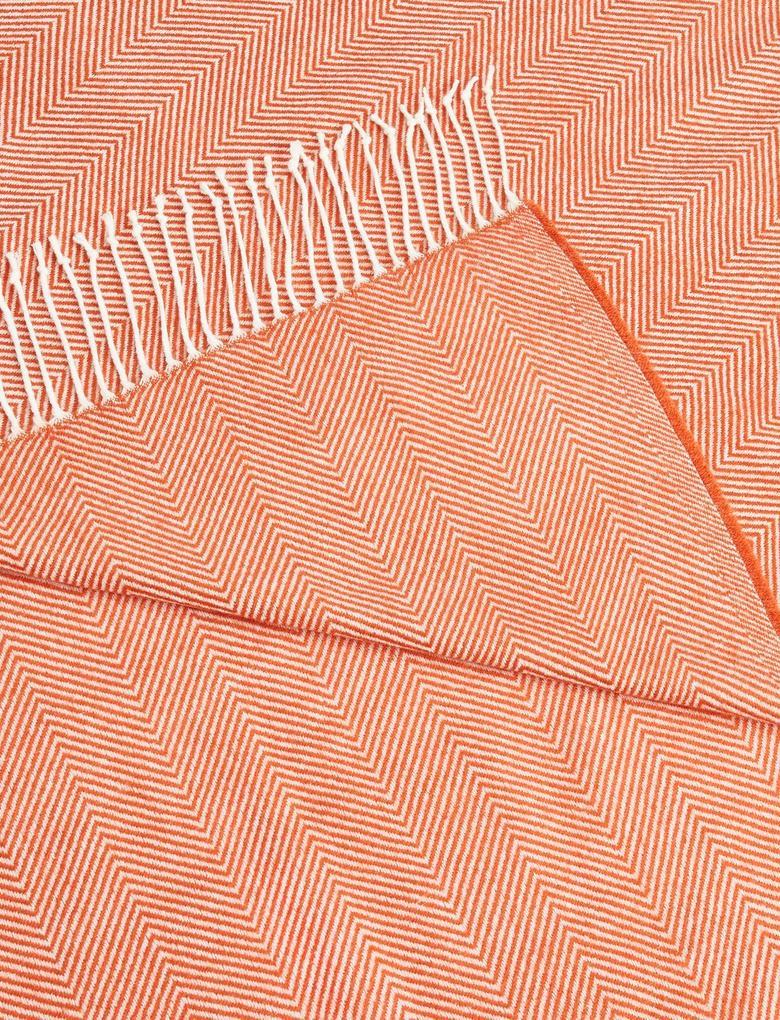 Ev Kahverengi Balıksırtı Desenli Koltuk Örtüsü
