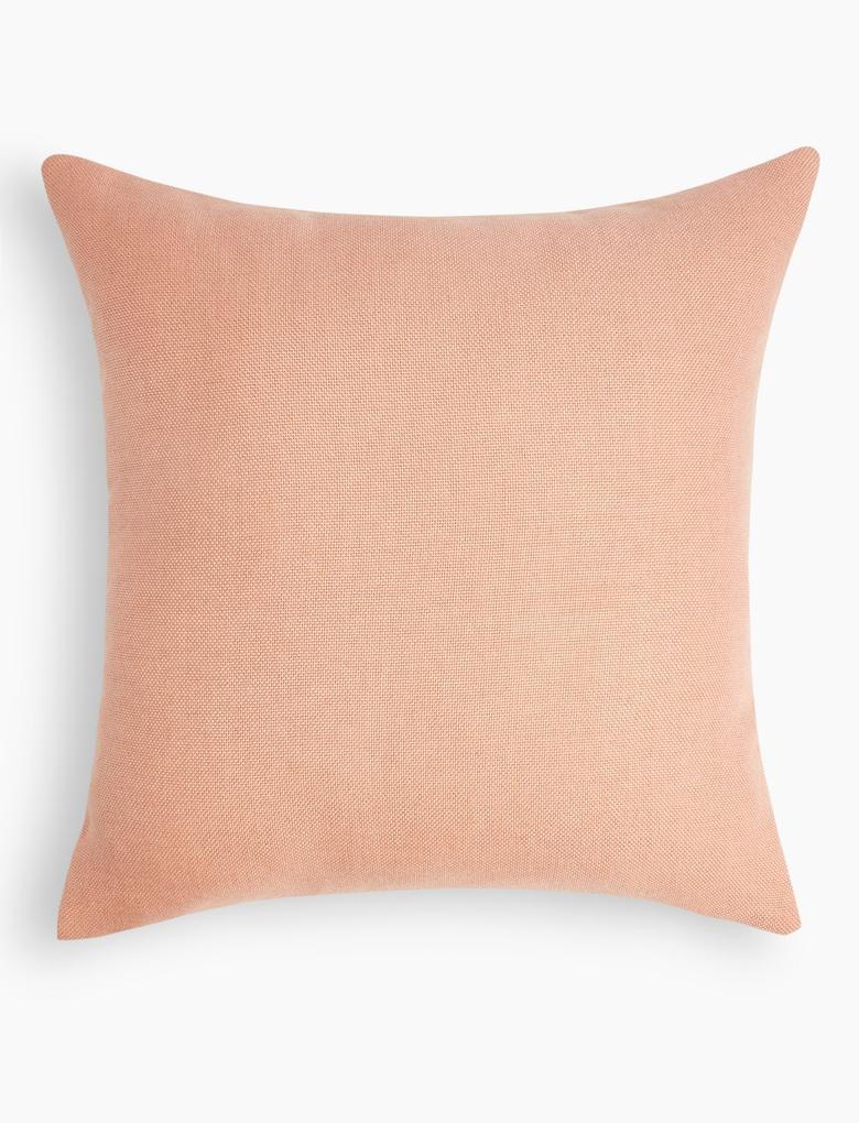 Ev Pembe Düz Renk Yastık