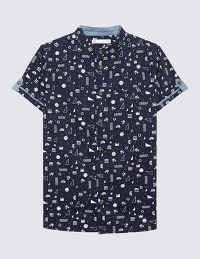 Erkek Çocuk Lacivert Kısa Kollu Gömlek