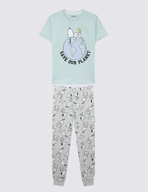 Çocuk Mavi Snoopy™ Pijama Takımı