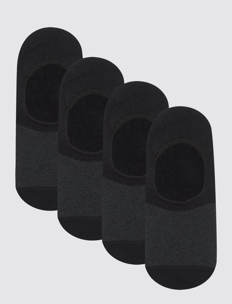Erkek Siyah 4'lü Cool & Freshfeet™ Çorap Seti