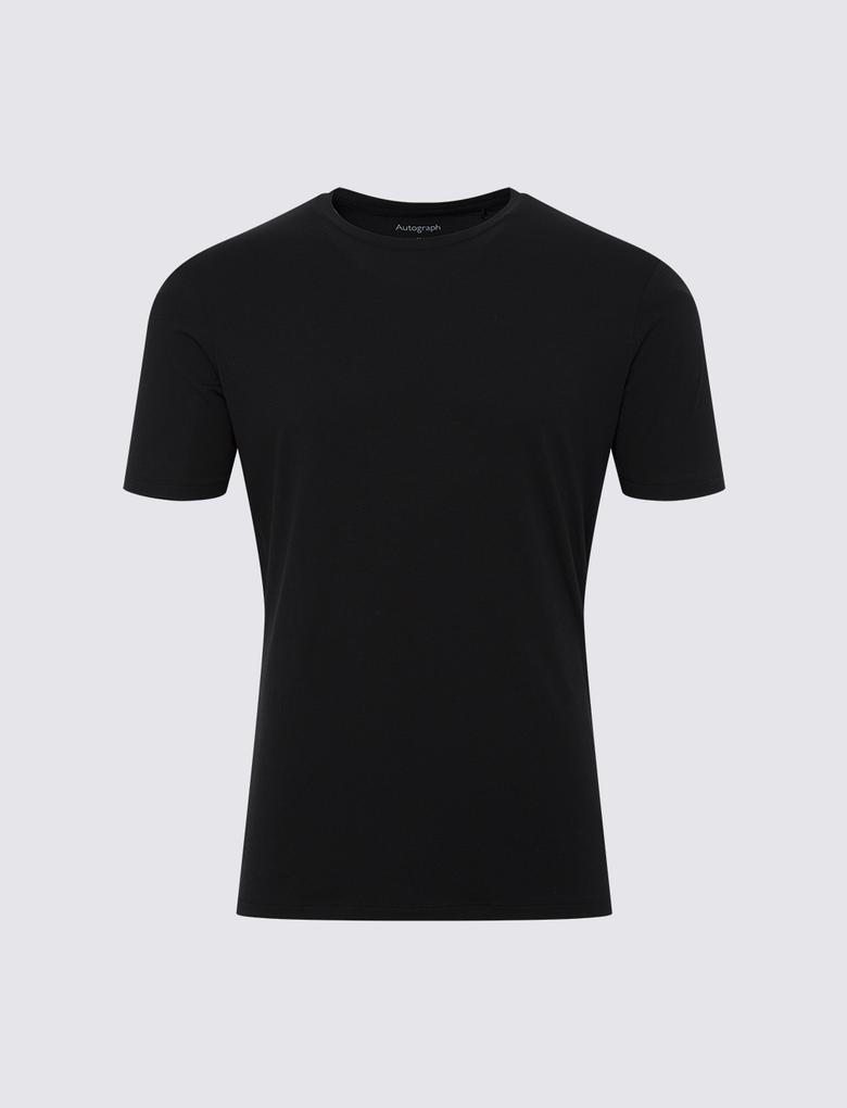 Erkek Siyah Luxury Supima® Supersoft Pamuk Karışımlı Atlet