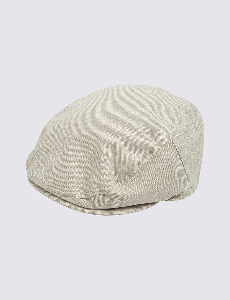 Erkek Bej Dokulu Şapka