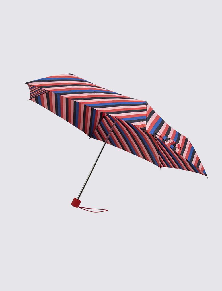 Kadın Pembe Çizgili Şemsiye