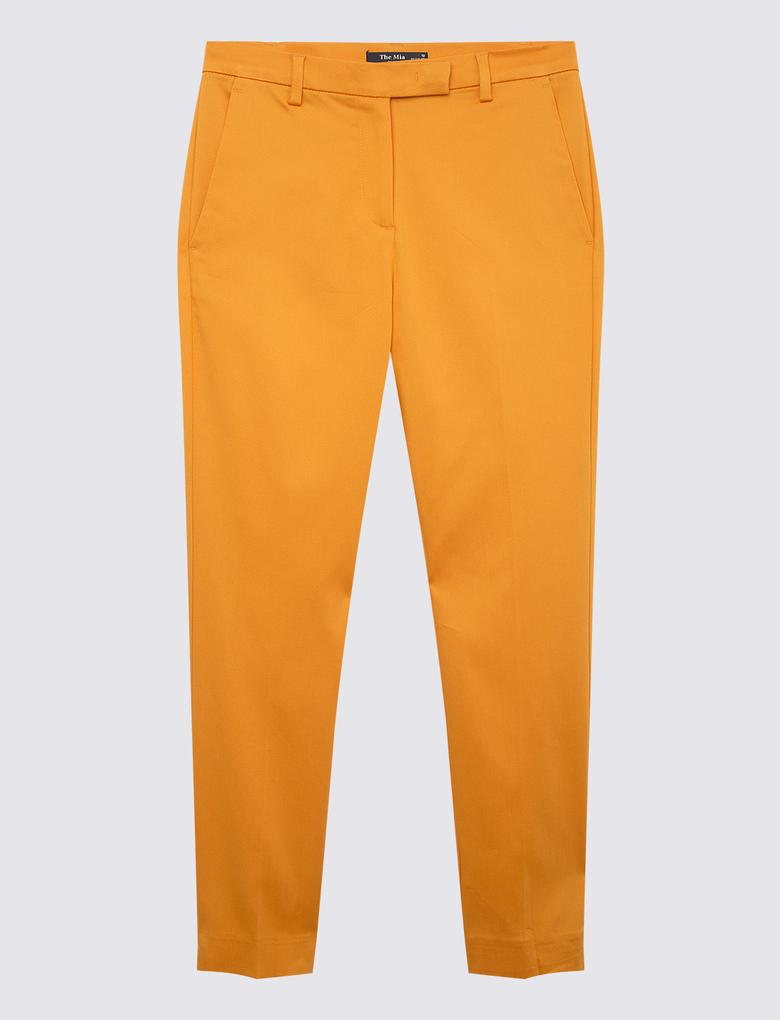 Kadın Turuncu 7/8 Mia Slim Crop Pantolon