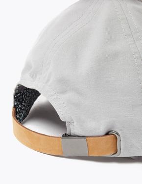 Erkek Gri Saf Pamuklu Şapka