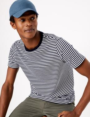 Erkek Lacivert Saf Pamuklu Şapka