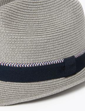 Erkek Gri Dokulu Fötr Şapka