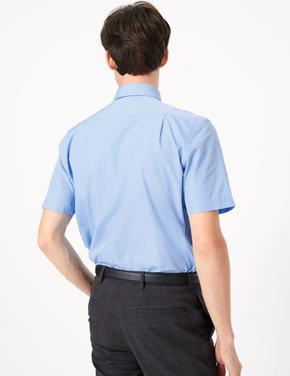 Erkek Mavi 3'lü Kısa Kollu Gömlek Seti