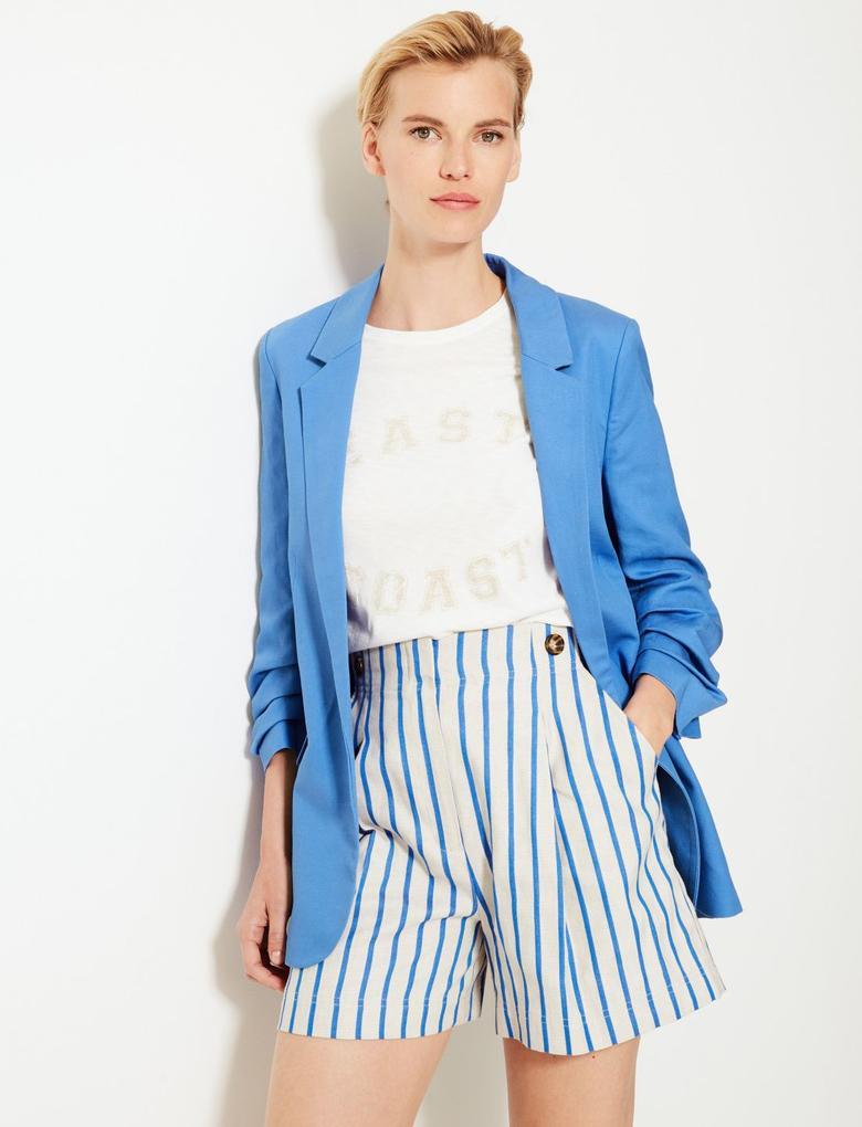Mavi Önü Açık Blazer Ceket