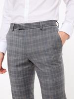 Erkek Mavi Ekose Tailored Fit Pantolon