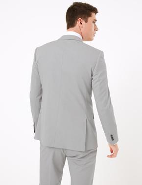 Erkek Gri Tailored Fit Ceket