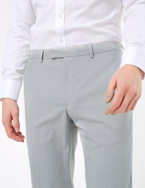 Erkek Gri Tailored Fit Pantolon
