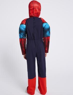 Çocuk Mavi Spiderman Kostümü