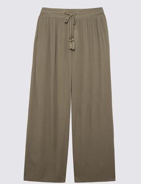 Kadın Yeşil Krinkle Pantolon