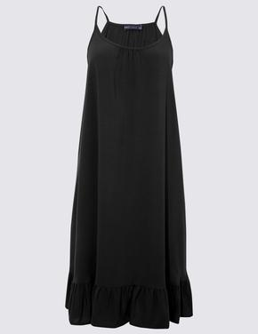 Kadın Siyah Swing Plaj Elbisesi