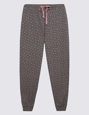 Kadın Siyah Desenli Pijama Takımı