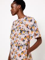 Kadın Multi Renk Çiçek Desenli Relaxed Midi Elbise