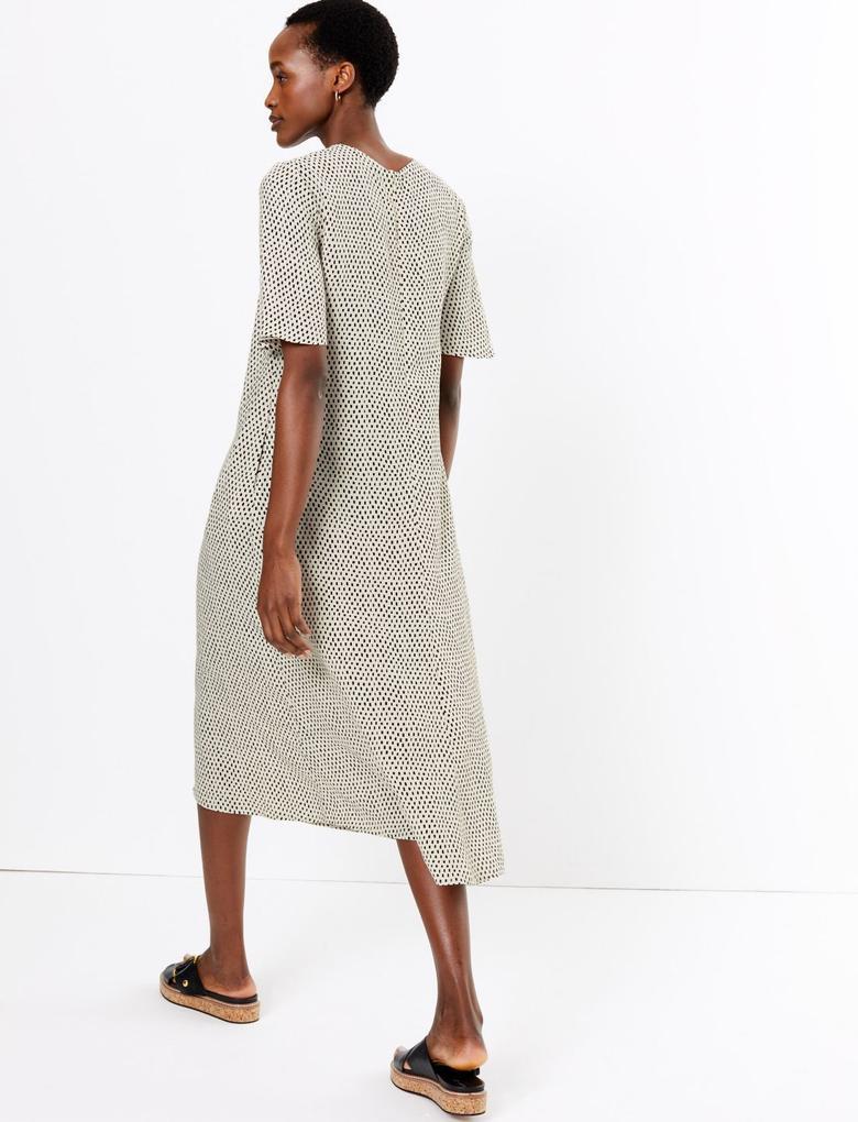 Kadın Multi Renk Desenli Relaxed Midi Elbise