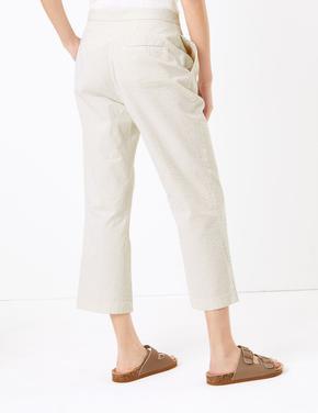 Kadın Renksiz Regular Fit Kumaş Pantolon