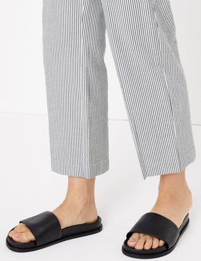 Kadın Mavi Regular Fit Kumaş Pantolon