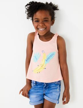 Kız Çocuk Multi Renk 5'li İnce Askılı T-Shirt