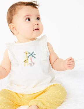 Bebek Bej Bluz ve Alt Takımı