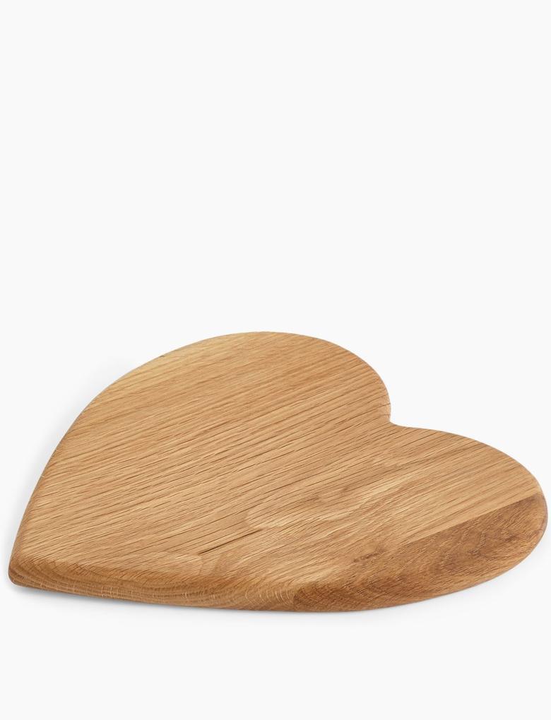 Ev Kahverengi Kalp Şeklinde Kesme Tahtası