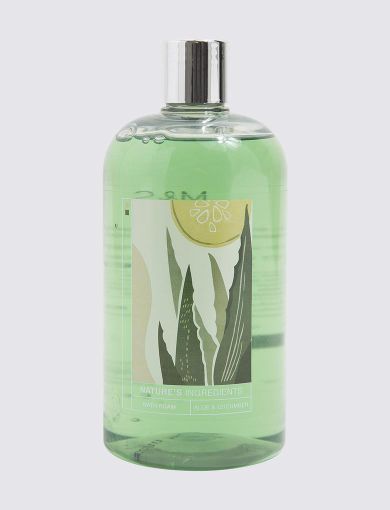 Kozmetik Renksiz Aloe Vera ve Salatalık Özlü Banyo Köpüğü
