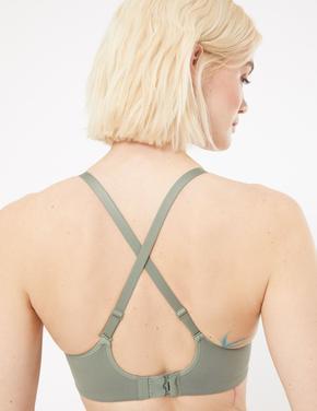 Kadın Yeşil Çapraz Askılı Flexifit™  Crop Bralet