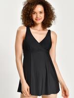 Kadın Siyah Secret Slimming™ Elbise Mayo