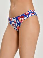 Kadın Mavi Çiçek Desenli Hipster Bikini Altı