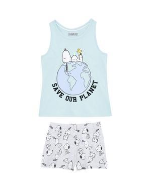 Çocuk Mavi Snoopy™ Desenli Pijama Takımı